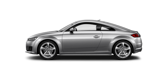 The Audi TT Coupe and it's side view