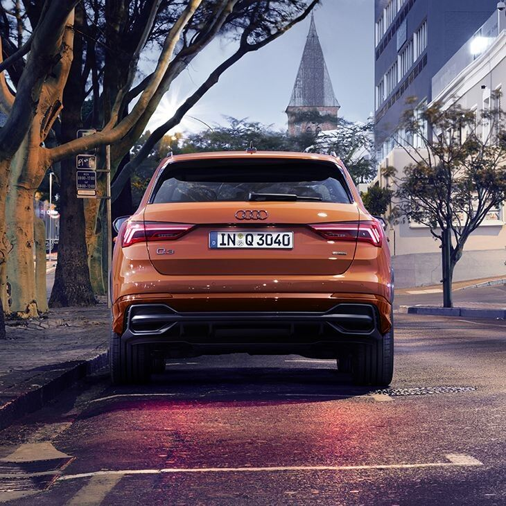 Back view of a 2019 Q3 european model