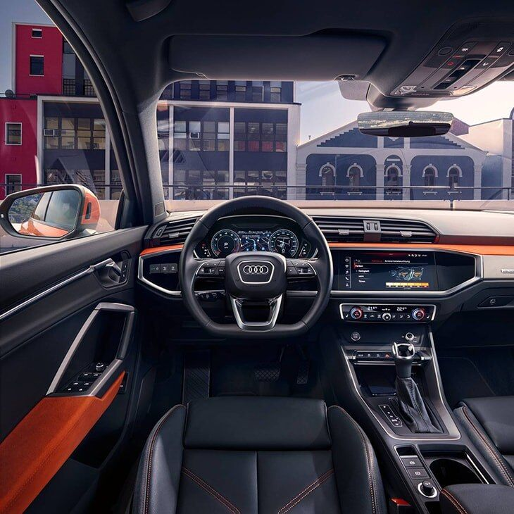 The 2019 Audi Q3 interior view