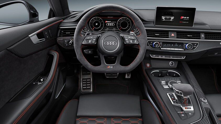 The 2019 Audi RS 5 Sportback interior view