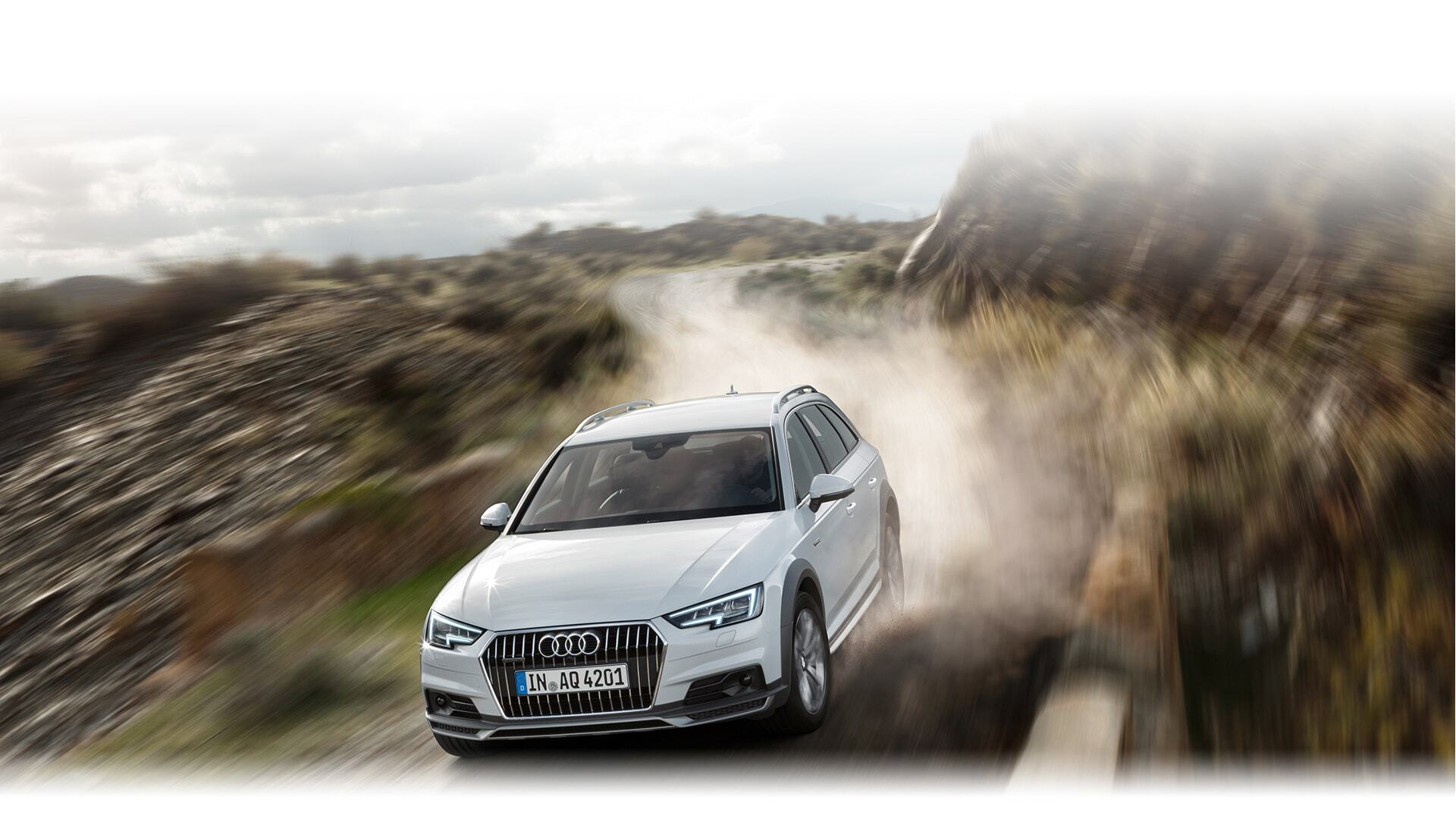 An aerial view of the New 2019 Audi A4 allroad, available in Windsor Ontario