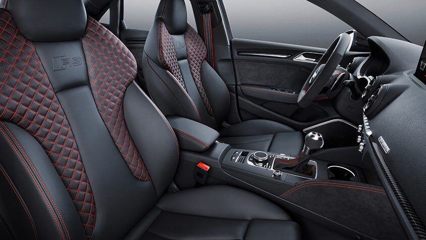 The 2019 Audi RS 3 Sedan interior view