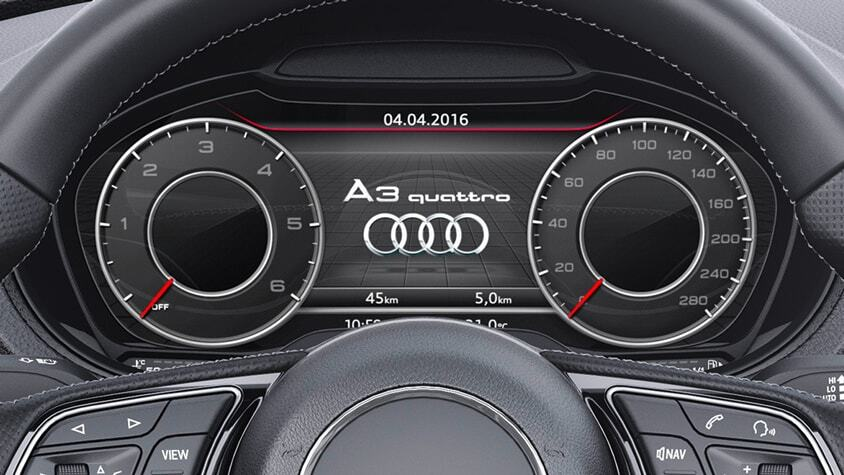 The New 2019 Audi A3 Cabriolet dashboard view