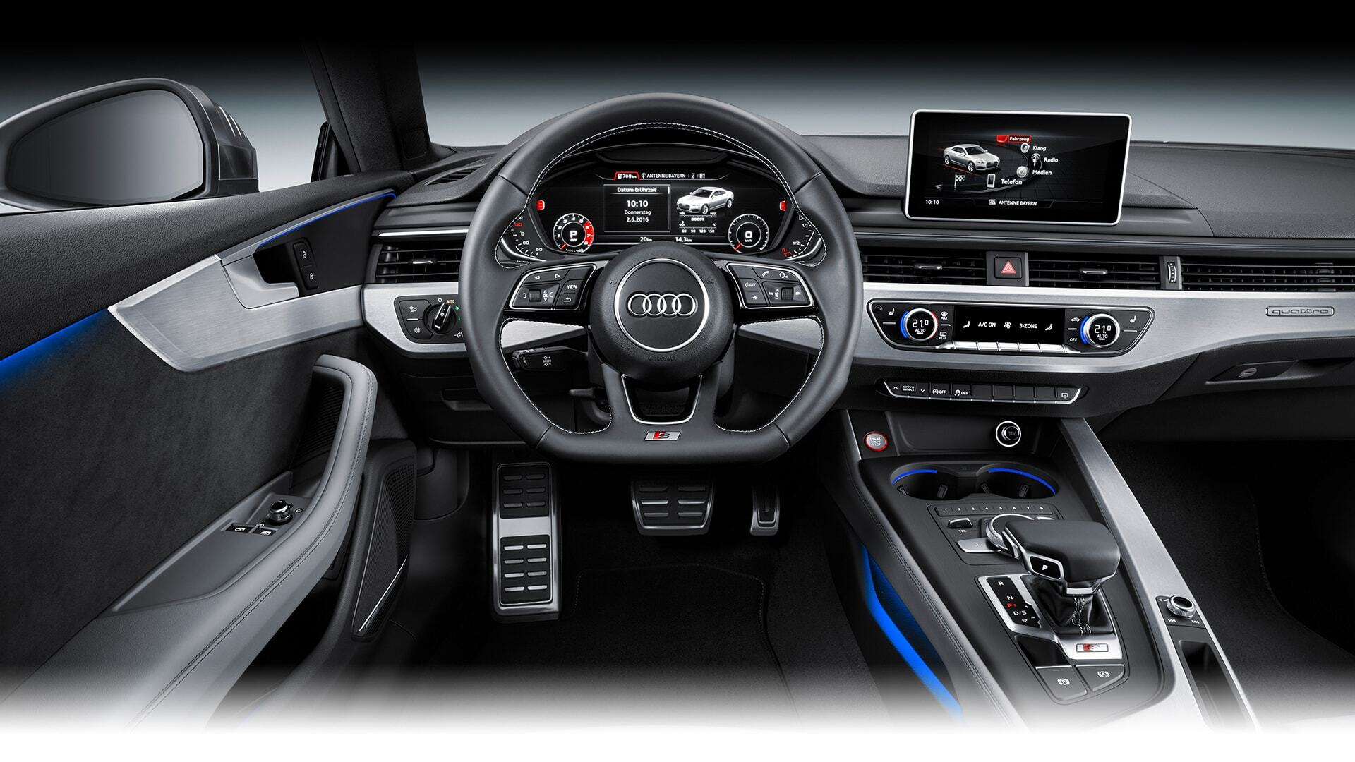 Dashboard view of the New 2019 Audi S5 Coupe, available in Windsor Ontario