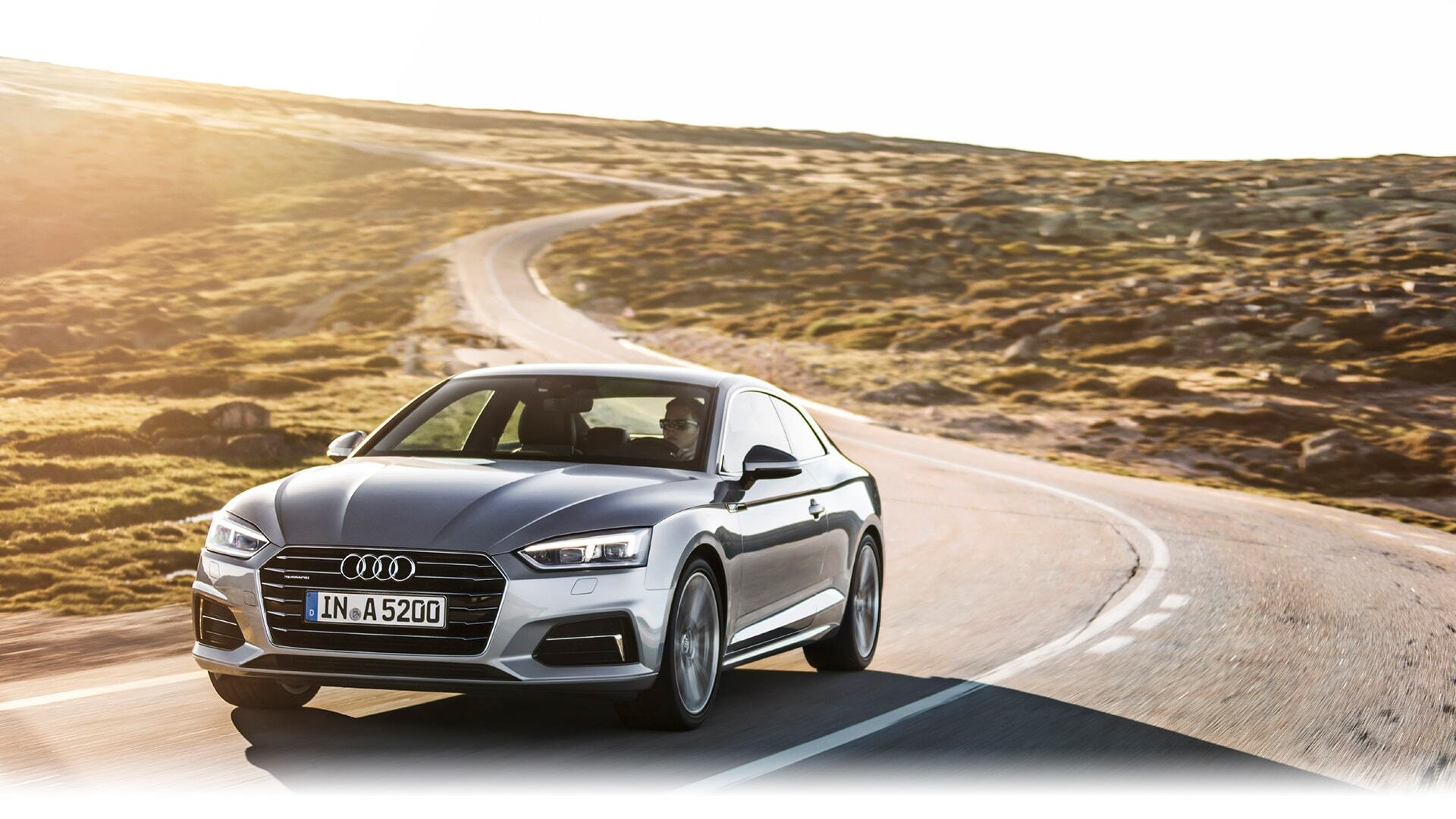 a European model of the New 2019 Audi A5 Coupe