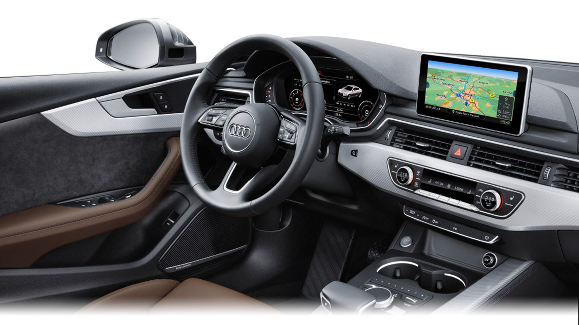 An aerial view of the New 2019 Audi A5 Sportback, available in Windsor Ontario