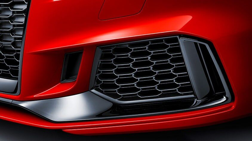 The 2019 Audi RS 3 red exterior and black grille