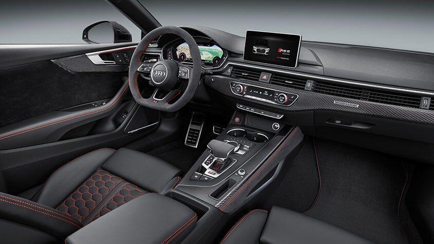 The 2019 Audi RS 5 Coupe interior view