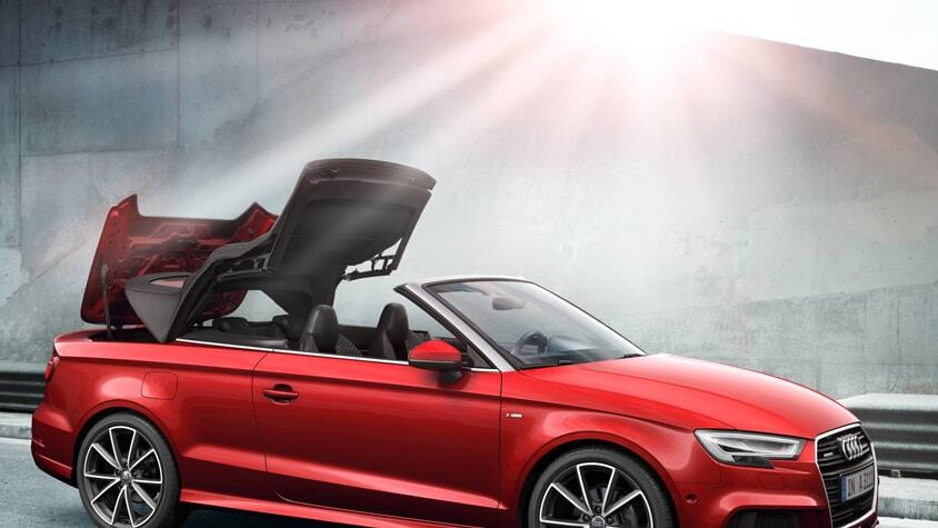 The New 2019 Audi A3 Cabriolet rooftop transition