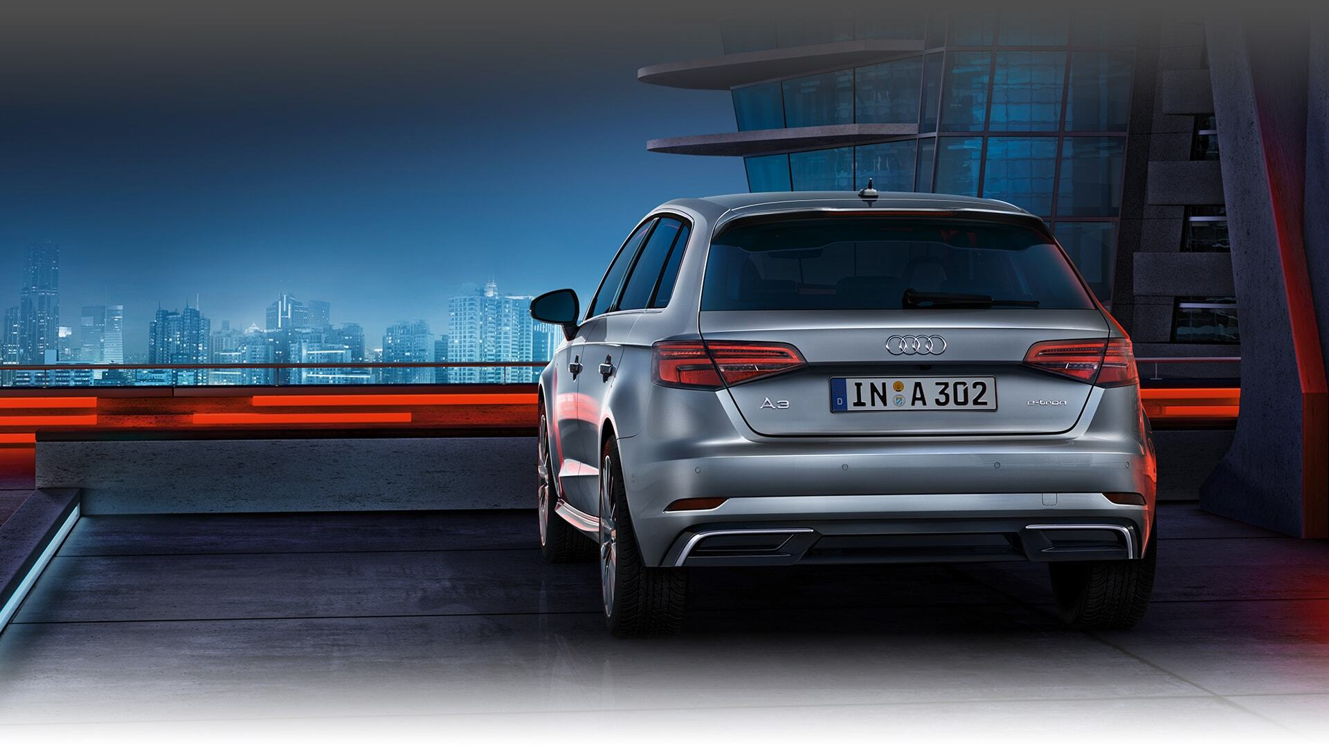 A backwards view of the 2018 Audi A3 Sportback e-tron available in Windsor Ontario