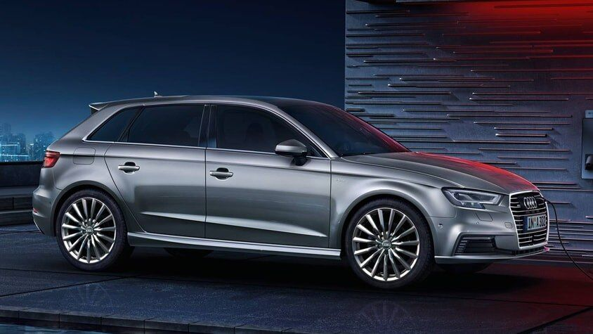 The 2018 Audi S3 Sportback e-tron charging with a cable