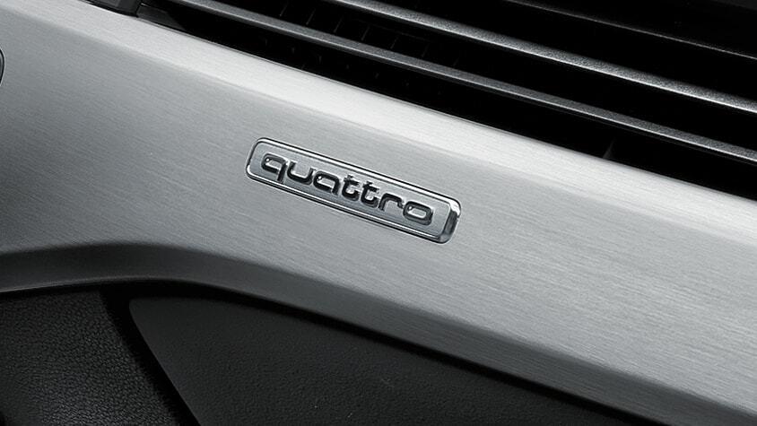 The Audi Quattro logo