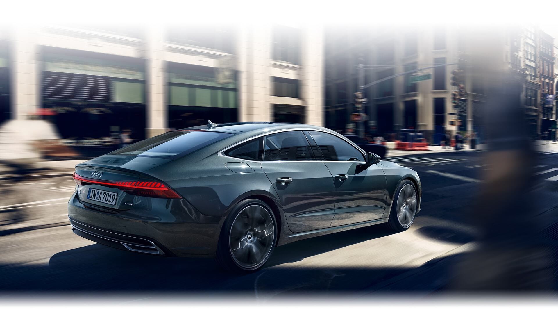 a European model of the New 2019 Audi A7 Sportback