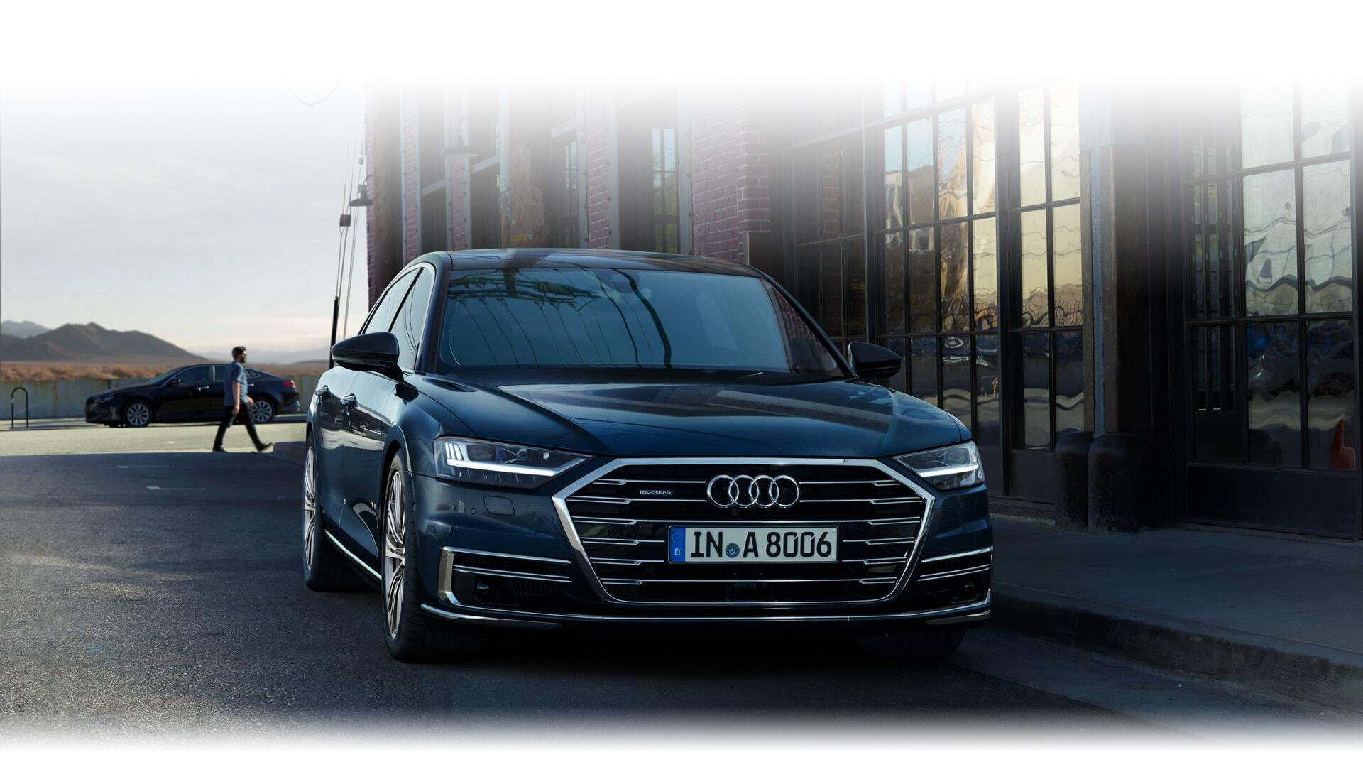 a European model of the New 2019 Audi A8 L