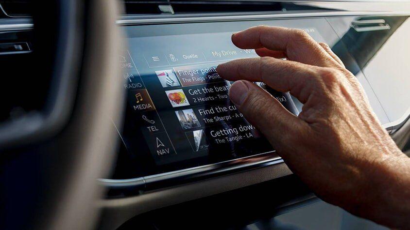The 2019 Audi A8 L interior view