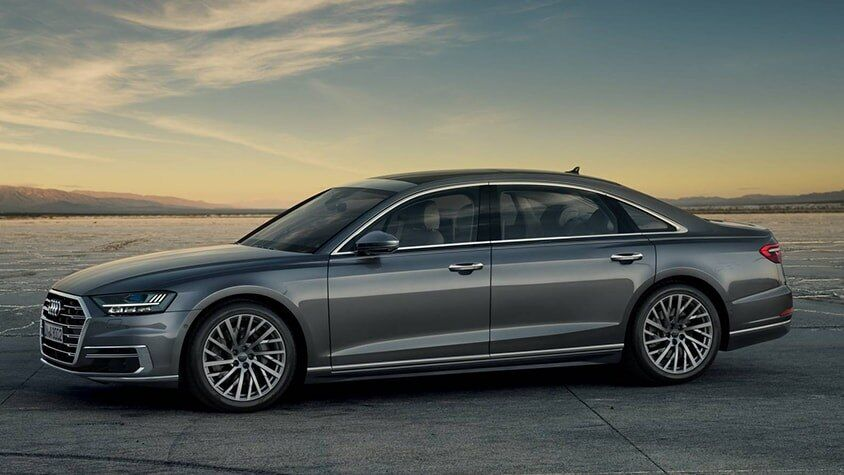A side view of the New 2019 A8 L available in Windsor Ontario