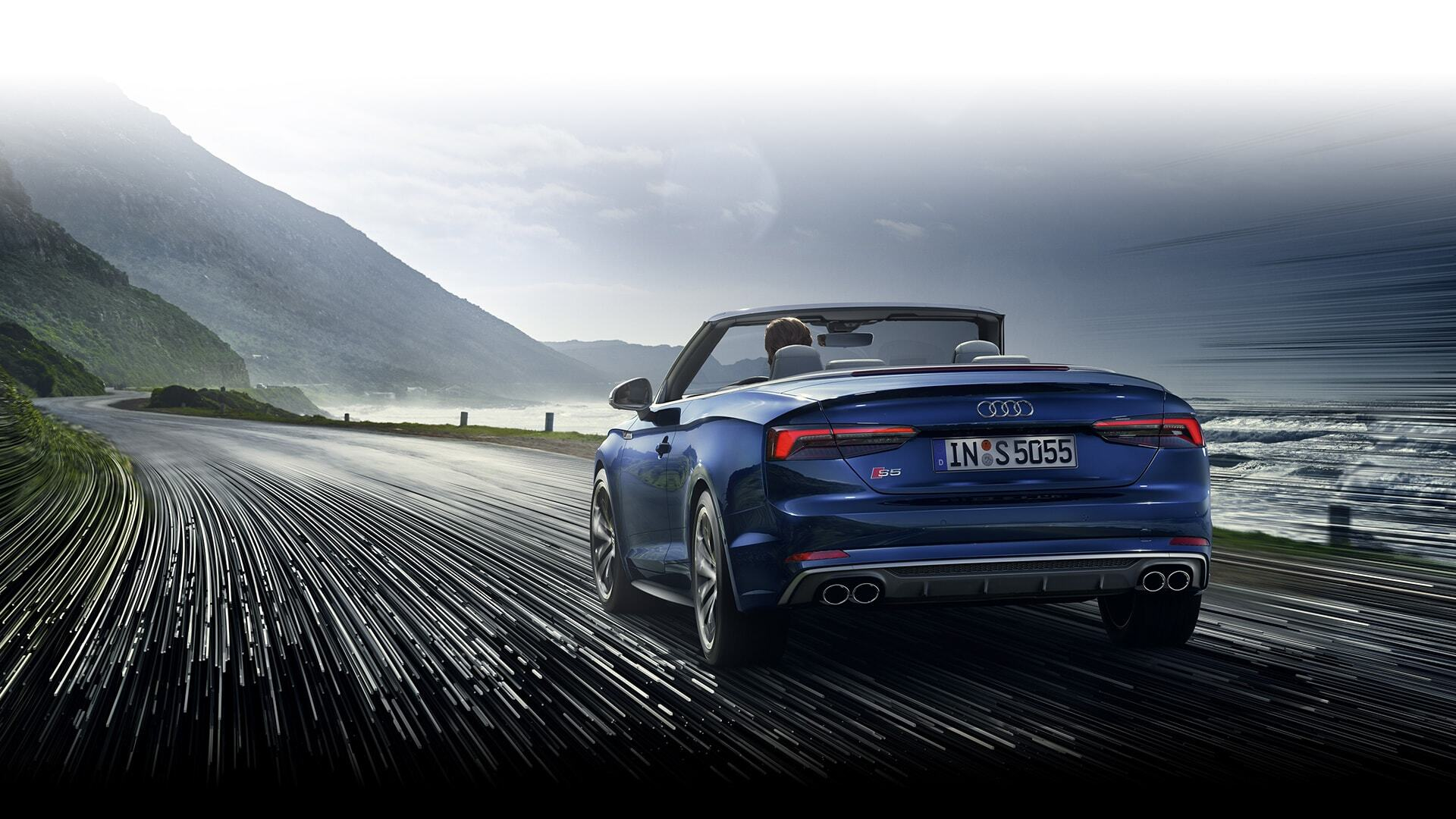 a European model of the New 2019 Audi S5 Cabriolet