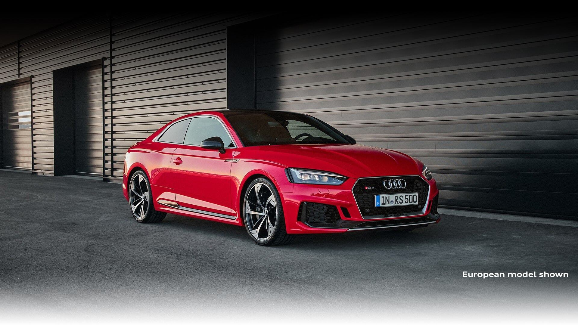 Sideways of the New 2019 Audi RS 5 Coupe, available in Windsor Ontario