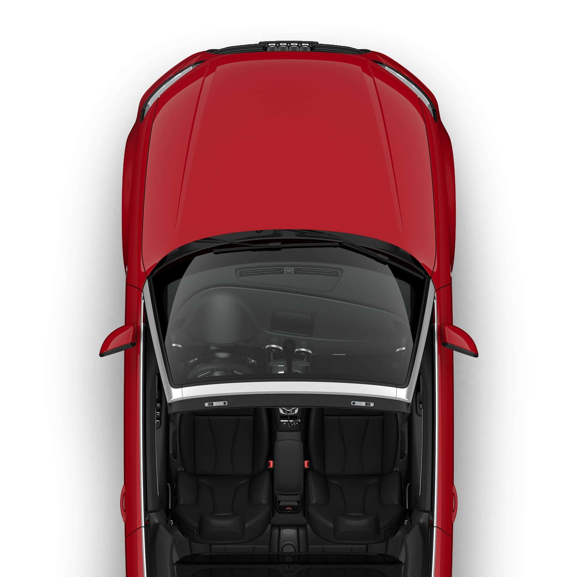 Aerial top view of the New 2019 Audi A3 Cabriolet