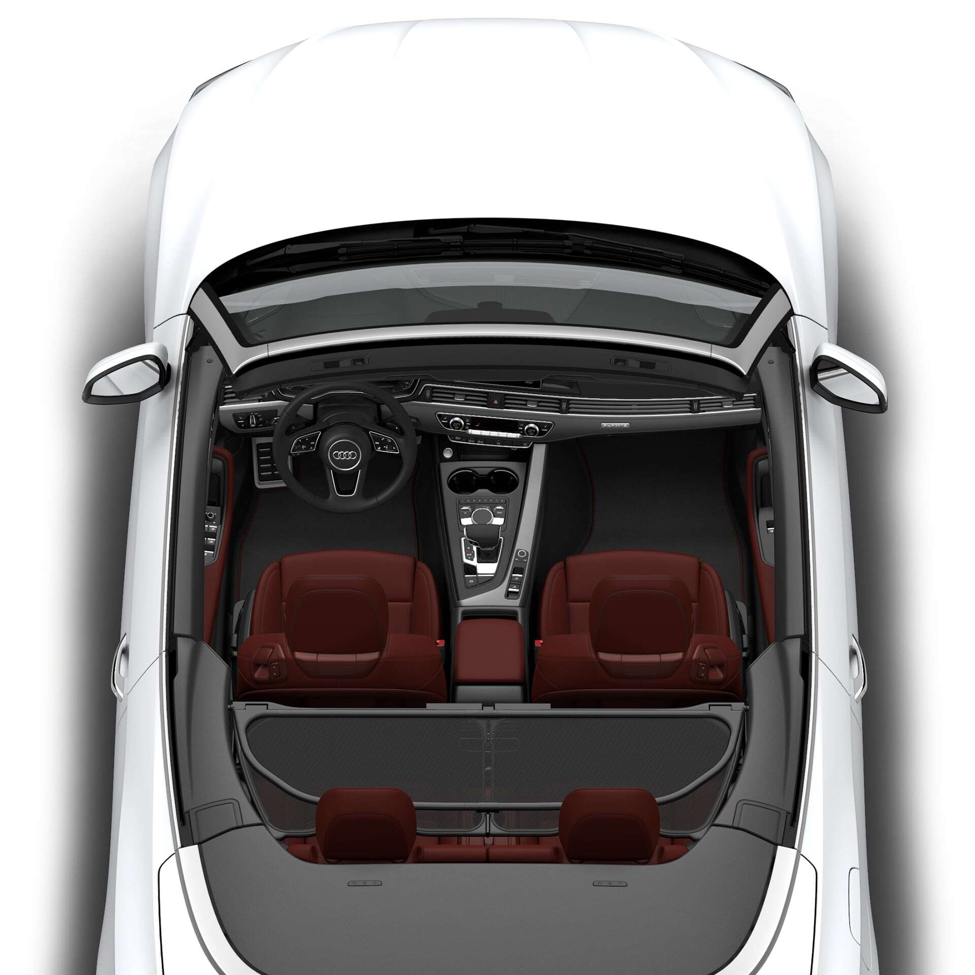 An aerial view of the New 2019 Audi A5 Cabriolet, available in Windsor Ontario
