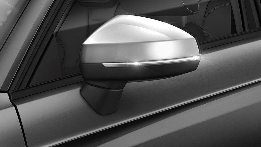 The New 2019 Audi S3 Sedan silver side mirror