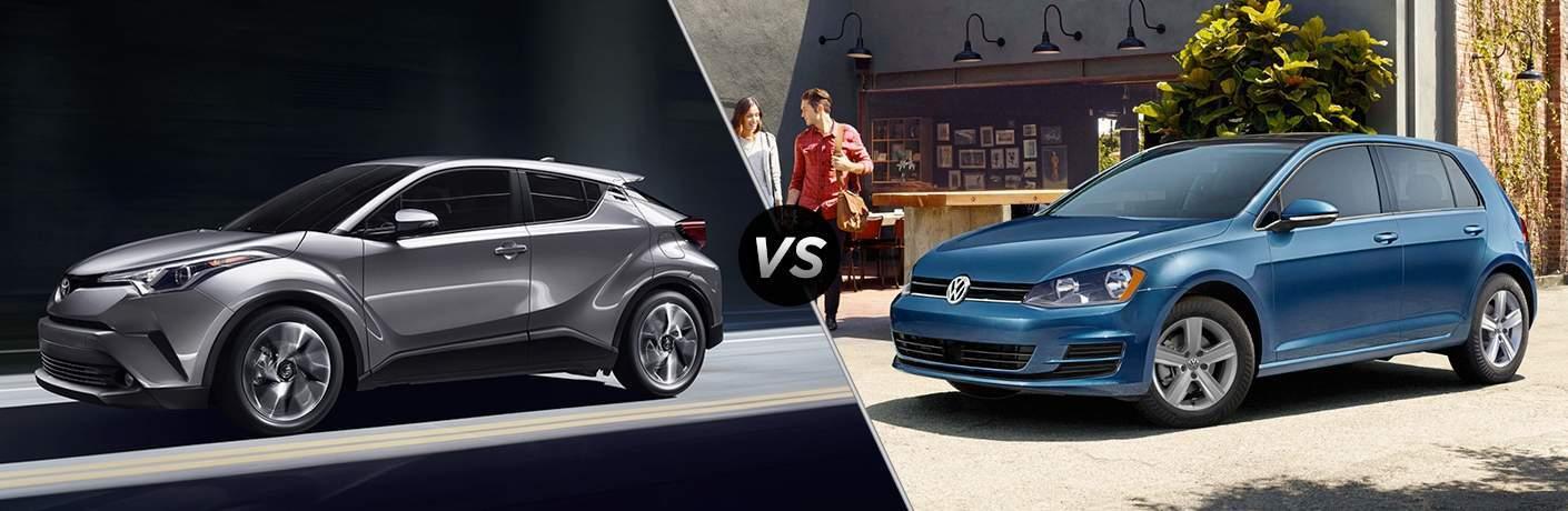 2018 Toyota C-HR vs 2017 Volkswagen Golf