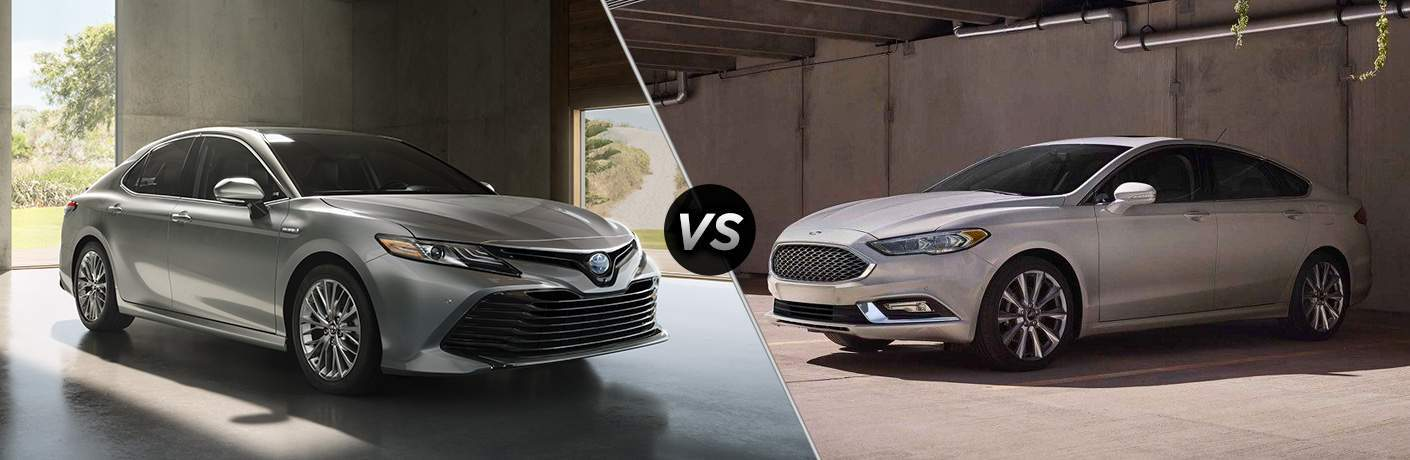 A side-by-side comparison of the 2018 Toyota Camry vs. 2018 Ford Fusion