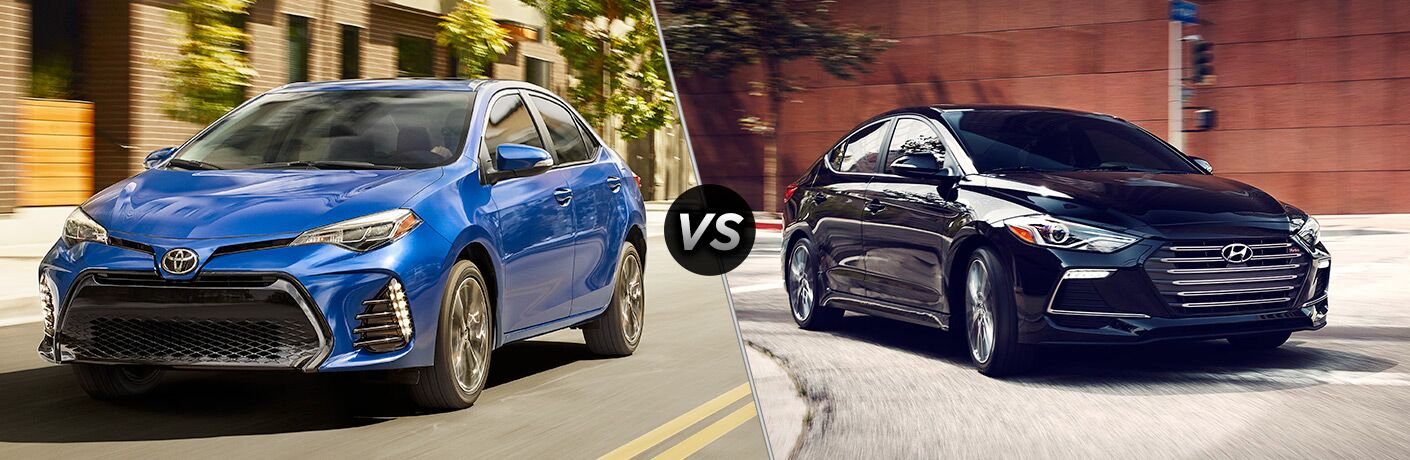 A side-by-side comparison of the 2018 Toyota Corolla vs. 2018 Hyundai Elantra.