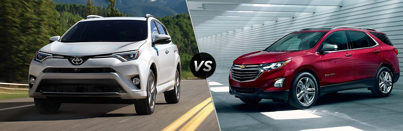 A side-by-side comparison of the 2018 Toyota RAV4 vs. 2018 Chevy Equinox.