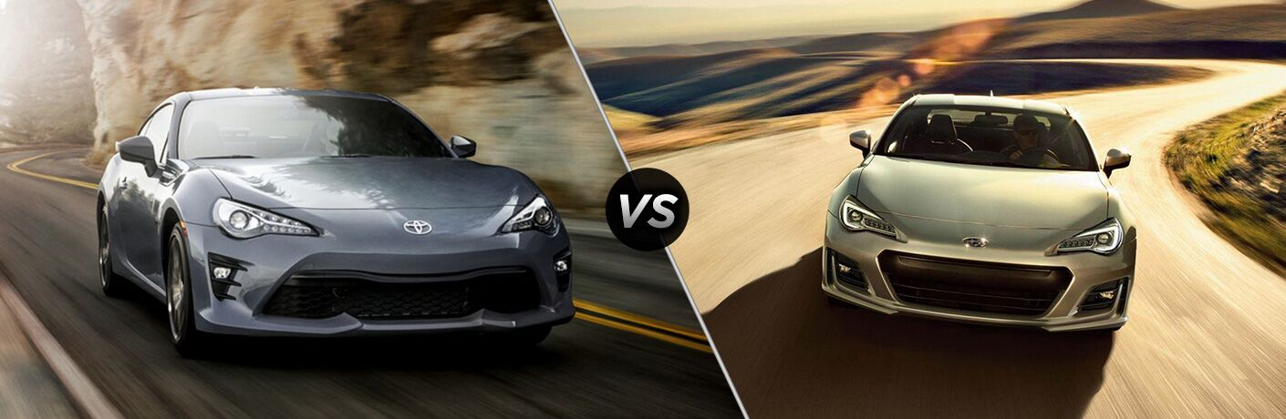 A side-by-side comparison of the 2018 Toyota 86 vs. 2018 Subaru BRZ
