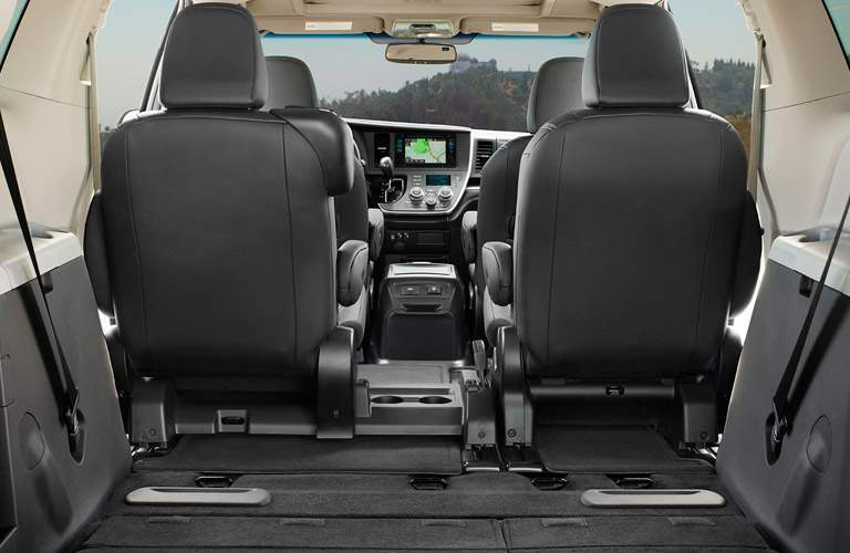 An interior view of showing how much space is available in the 2018 Sienna