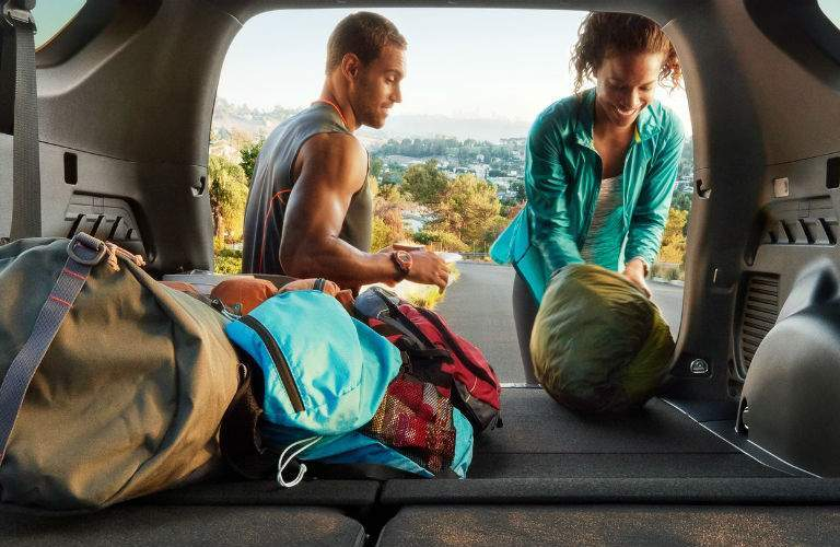 A photo of the interior of the 2018 RAV4 showing how much cargo space is available.