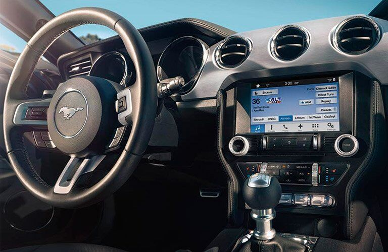 2017 Ford Mustang Steering Wheel, Dashboard and Touchscreen Display