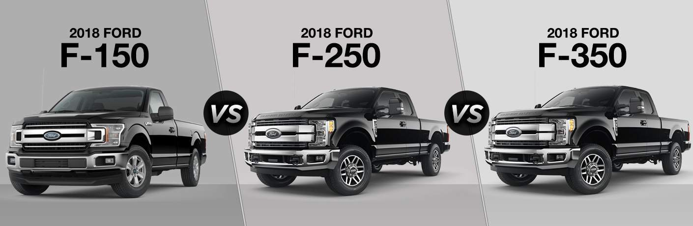 Online Car Parts >> 2018 Ford F-150 vs 2018 Ford F-250 vs 2018 Ford F-350
