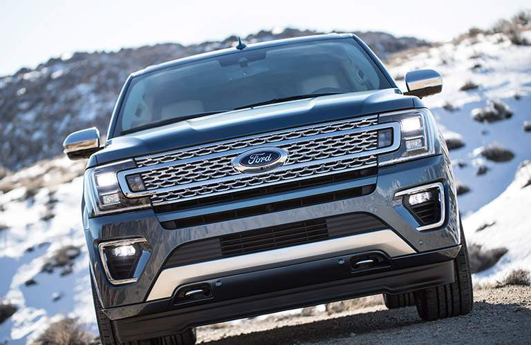 Blue 2018 Ford Expedition Front Exterior in the Mountains