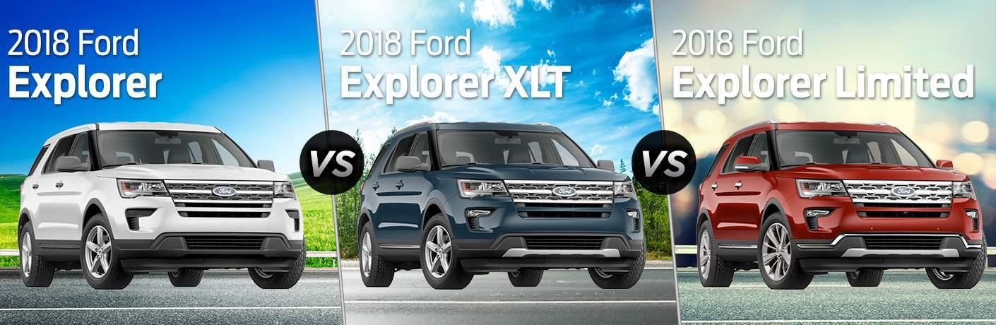 2018 ford explorer vs 2018 ford explorer xlt vs 2018 ford explorer