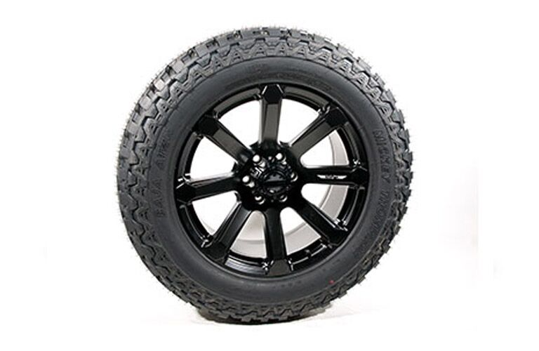 Close Up of 2018 Ford F-150 ROUSH Raptor Wheel on White Background