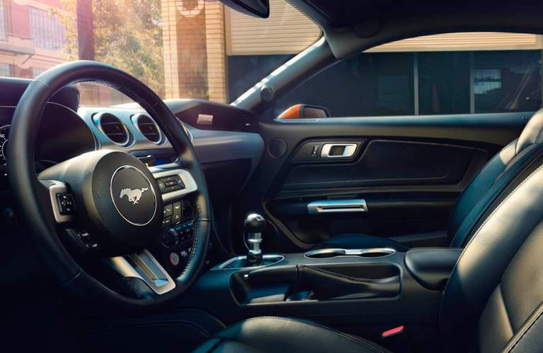 Close Up of 2018 Ford Mustang Steering Wheel
