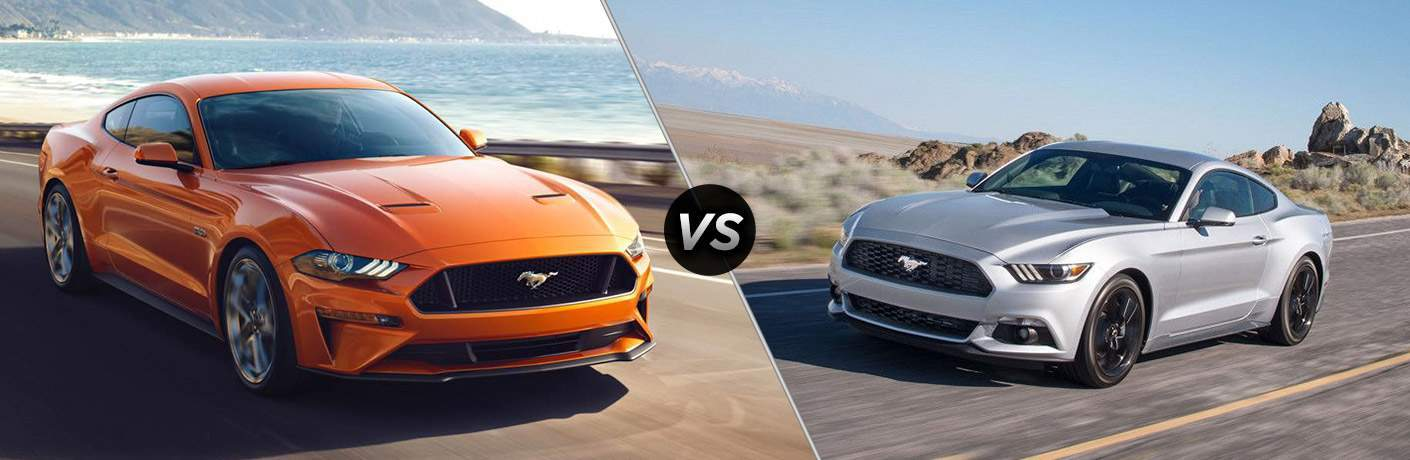 2018 Ford Mustang vs 2017 Ford Mustang