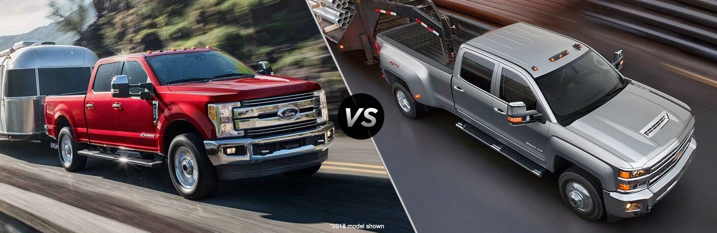 Ford F  Super Duty Vs  Chevy Silverado