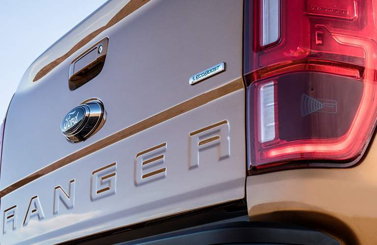 Gold 2019 Ford Ranger Tailgate with Stamped Ranger Logo