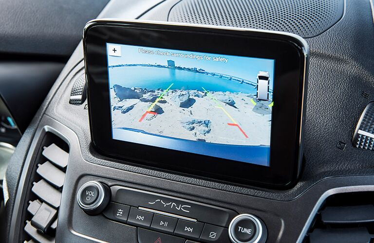 Close-up View of Ford Transit Connect Infotainment Screen