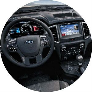 2019 Ford Ranger Steering Wheel, Dashboard and Ford SYNC 3 Touchscreen Display