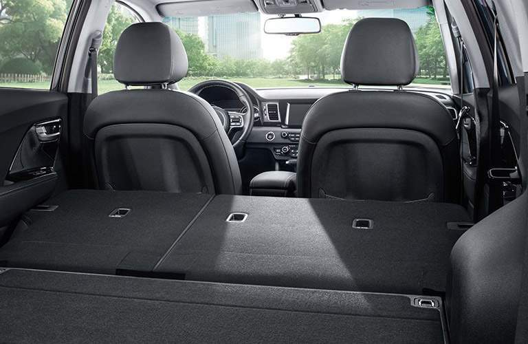 2017 Kia Niro with rear seats folded down