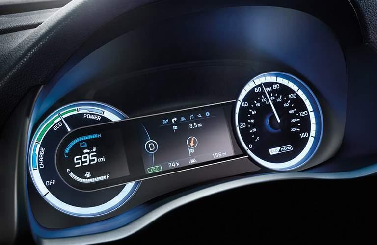 2017 Kia Niro driver display closeup