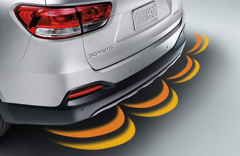 2018 Kia Sorento rear parking sensor graphic