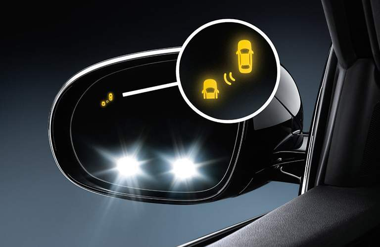 2018 Kia Sorento blind spot monitor graphic