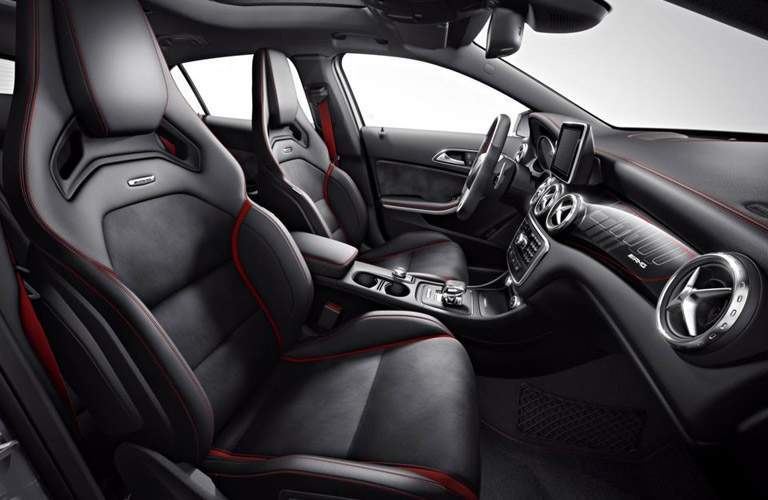 mercedes-benz sport seats with red trim