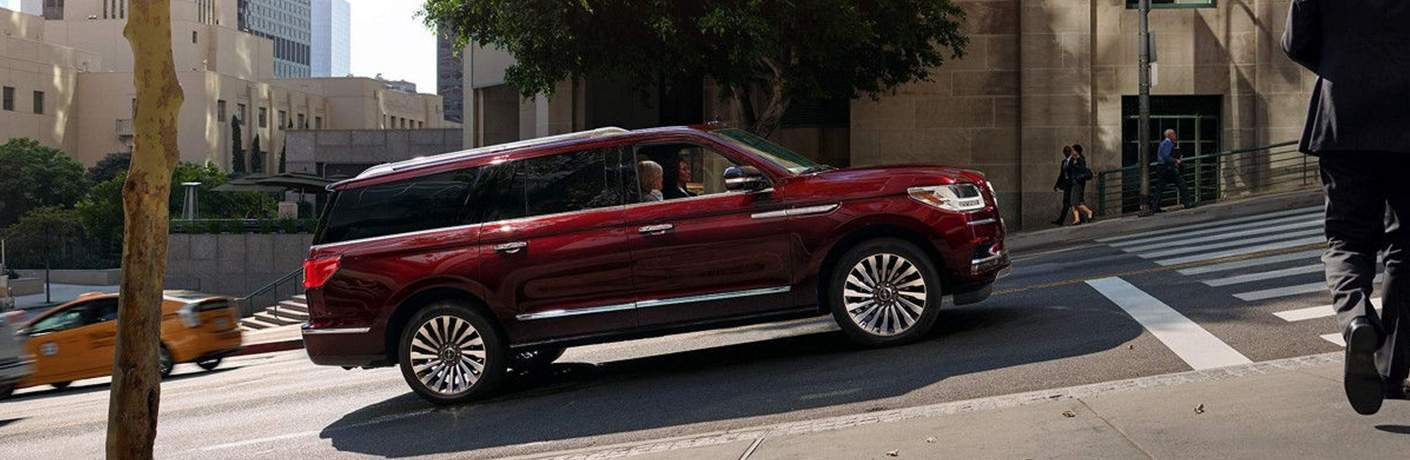 2018 Lincoln Navigator Driving up a Hill