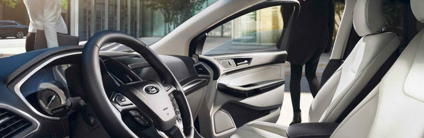 Front Seats Inside of the 2019 Ford Edge